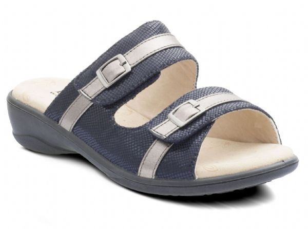 Prima E fit Padders sandal mule in Navy